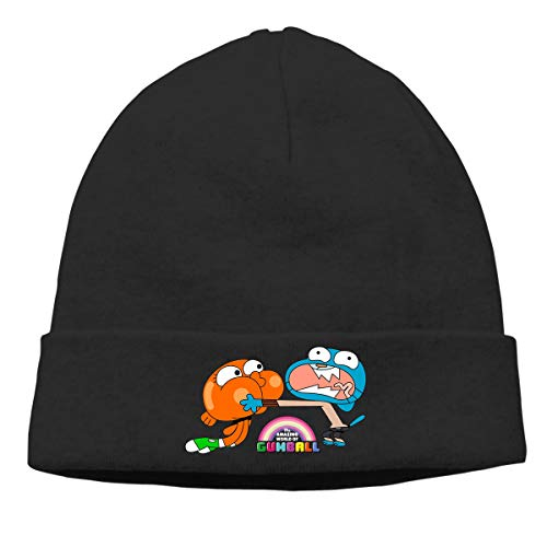 MUtang The Amazing World of Gumball Brother Skull Hats Knitted Cap Beanie Black -