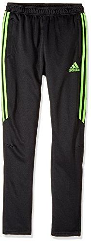adidas Youth Soccer Tiro 17 Pants, Large - Black/Solar Green (Adidas Womens Green)