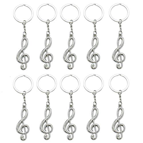(Bhbuy Fashion Cool Musical Note Key Ring Keyfob Keyring Music Symbol Keychain Gift New)