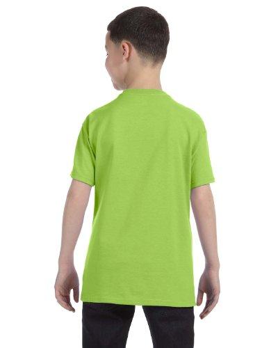 Jerzees Youth 5.6 oz., 50/50 Heavyweight Blend T-Shirt, XL, NEON GREEN (Heavyweight Jerzees Youth Blend)