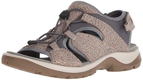 (ECCO Women's Yucatan Toggle outdoor offroad hiking sandal, nude/marine toggle, 11 M)