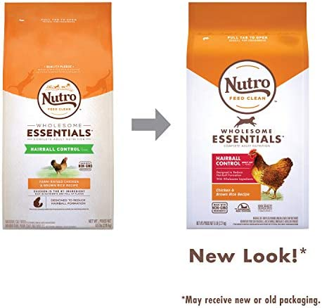 Nutro Wholesome Essentials Hairball Control Adult Dry Cat Food, Chicken 8
