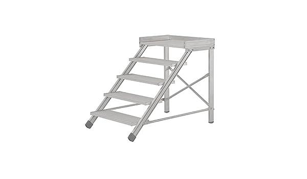 Hymer escaleras podium 6884 1.000 mm niveles de ancho/4 niveles de altura de trabajo de 2,80 M: Amazon.es: Bricolaje y herramientas