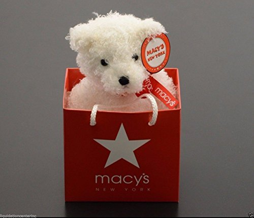 Macy's New York Shopping Bag GUND White Bear Classic Collectible Plush - Shopping Macy's