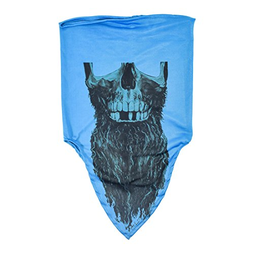 [Maskies by Santa Playa, Breathable Face Masks for Biking, Hiking :: Rapp Scullywag (Blue)] (Costume Ideas For Day Of The Dead)