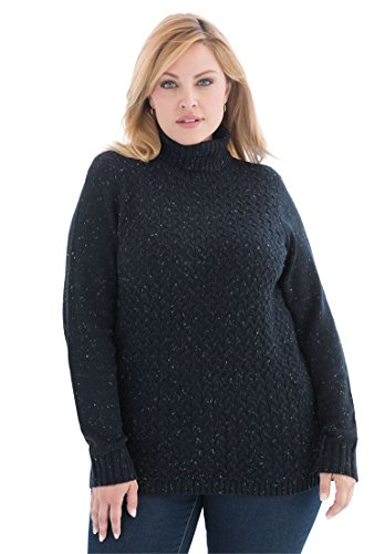 Jessica-London-Womens-Plus-Size-Soft-Marled-Turtleneck-Sweater