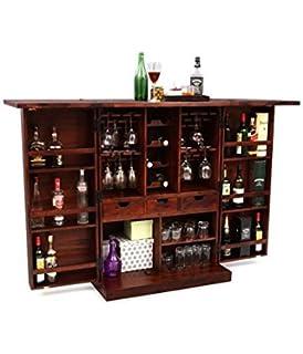 Ringabell Altavista Diamond Bar Cabinet (Teak Finish)