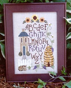Waxing Moon Designs Summer Sampler (#089) Cross Stitch Chart and Free Embellishment