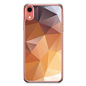 Loud Universe Case For iPhone XR Transparent Edge Geomaterical Shades Of Brown iPhone XR Cover