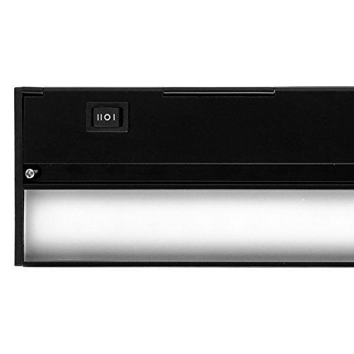 NICOR Lighting Slim 40-Inch Dimmable LED Under-Cabinet Lighting Fixture, Black (NUC-3-40-BK)