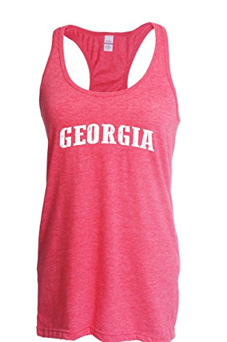 Ugo GA Georgia Map Flag Atlanta Global Vity Home of University of Georgia UGA Women's Next Level Ladies' Ideal Racerback Tank Clothes