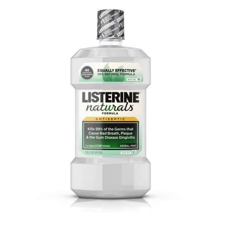 PACK OF 5 - Listerine Naturals Antiseptic Mouthwash, Herbal Mint, 1 L