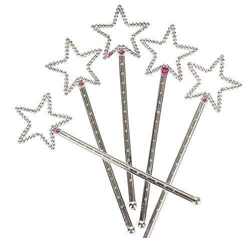 Rhode Island Novelty Fairy Princess Star Wands | One Dozen