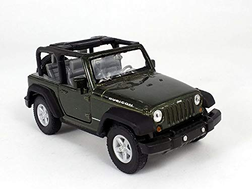 4.25 Inch Jeep Wrangler Rubicon 1/32 Scale Diecast Model - Green from Welly