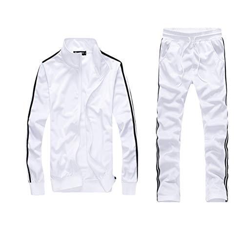 Men 2 Piece Tracksuit Set - Full Zip Athletic Sweatsuit Outfit Jogger Sport Set