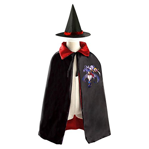 Warlock Witch Halloween Cosplay Costume Kids Witch Cloak Reversible Satin Cape and (Lord Voldemort Halloween Costume)