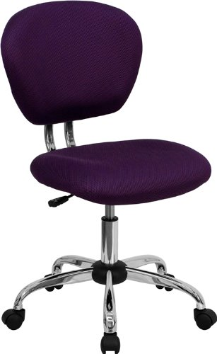 (Flash Furniture Mid-Back Purple Mesh Swivel Task Chair with Chrome Base)