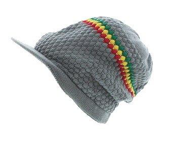 Milani Slouchy Woven Knit with Bill /& Rasta Stripe