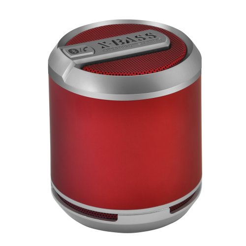 Divoom Bluetune Solo Bluetooth Rechargeable Portable Speaker with Mic for Smartphones – Retail Packaging – Red