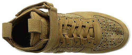 Nike Maan Force 1 Flyknit Workboot Heren Laarzen C_855984 Golden Beige / Zeil Olive Flak