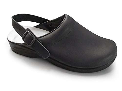PLS Medical - Zapatos con correa de tobillo adultos unisex negro
