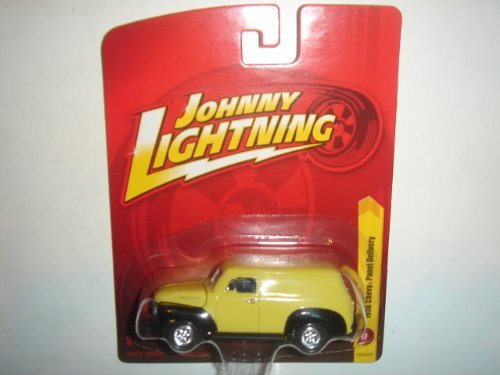 2011 Johnny Lightning R17 1950 Chevy Panel Delivery Light Yellow/Black by Learning Curve