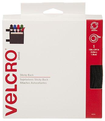 """VELCRO brand STICKY BACK Tape 3/4""""X15'-Black"""