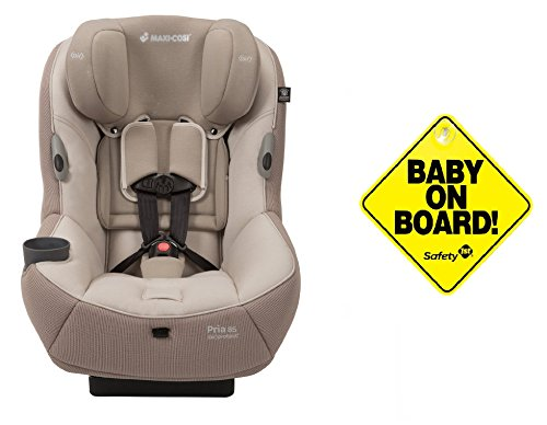 2016 Maxi-Cosi Pria 85 Special Edition Ribble Collection, Cairo Linen with Baby On Board Sign