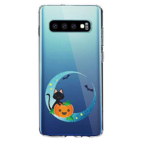 Case Compatible with Samsung Galaxy S10 Plus Ultra Thin Soft Clear Silicone Funny Cute Animal Cover for S10 Plus