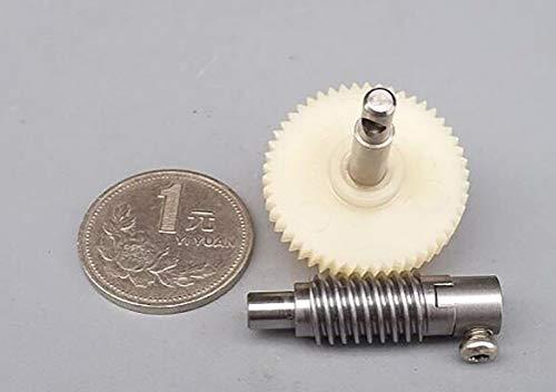 Gears - 1 Set Metal Wheel Speed Reducer Gearset Plastic Worm Reduction Gear - Gear Puller Steel Plastic Motor Pinion Reduce Wheel Teeth Metal Bike Spur Worm Remover Helical