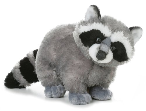 Aurora World Flopsie Bandit Plush Racoon, 12″