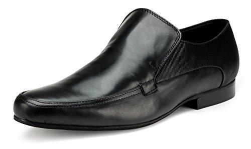 Escaro Men's Leather Formal Slip On Shoe 11 Black by Escaro (Image #4)