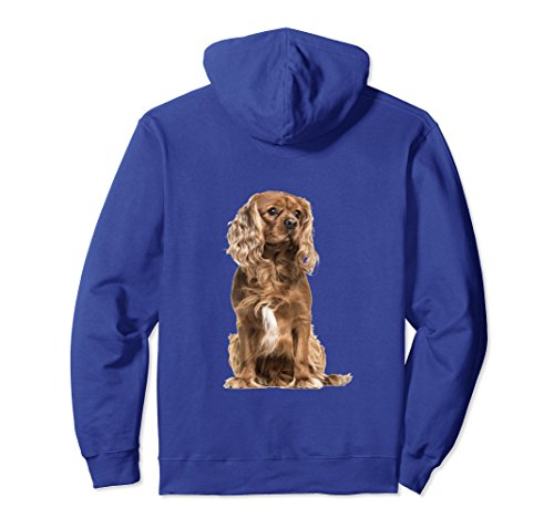 Unisex Brown cavalier King Charles Spaniel dog hoodie sweatshirt XL: Royal (Spaniel Brown Hoodie)