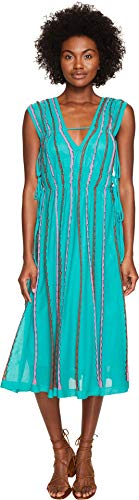 (M Missoni Women's Vertical Triangle Knit Dress Turquoise 40)