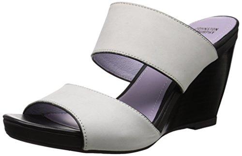 Johnston & Murphy Women's Nisha Wedge Slide Sandal, Off White, 8.5 M US Johnston & Murphy Suede Heels