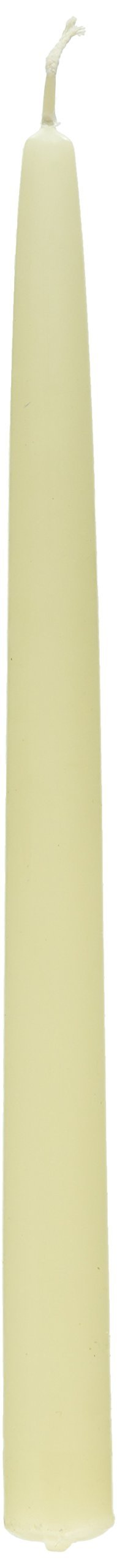 Colonial Candle Ivory Unscented 12 Inch Handipt Taper Candles