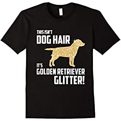 Mens This Isn't Dog Hair It's Golden Retriever Glitter T-Shirt 2XL Black