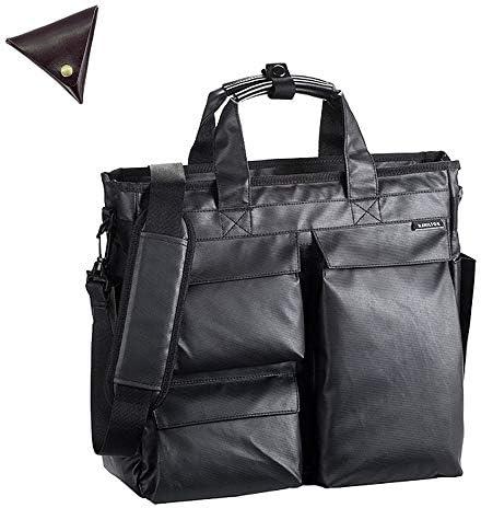 メンズ ショルダー付き 撥水 B4 ビジネスバッグ と [BLANZAY 本革高級コインケース]のセット BH26610