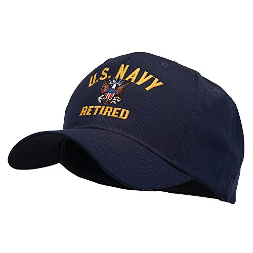 ed Military Embroidered Cap - Navy OSFM (Navy Retired Ball Cap)
