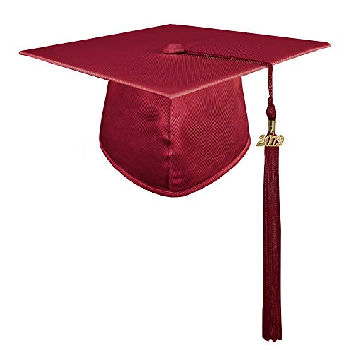 - GraduationMall Shiny Kindergarten and Preschool Graduation Cap with 2019 Tassel Maroon