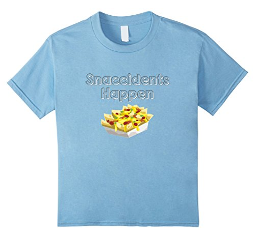 Kids Nachos Funny Snaccidents Happen T-Shirt 8 Baby Blue