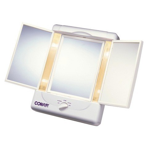 conair 3 panel lighted mirror - 5