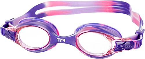 TYR Girls Pink & Purple Swimple Goggles One Size Pink/purple
