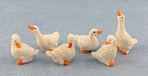 Melody Jane Dolls Houses House Miniature Farm Yard Accessory Birds Set Of 6 Geese from Melody