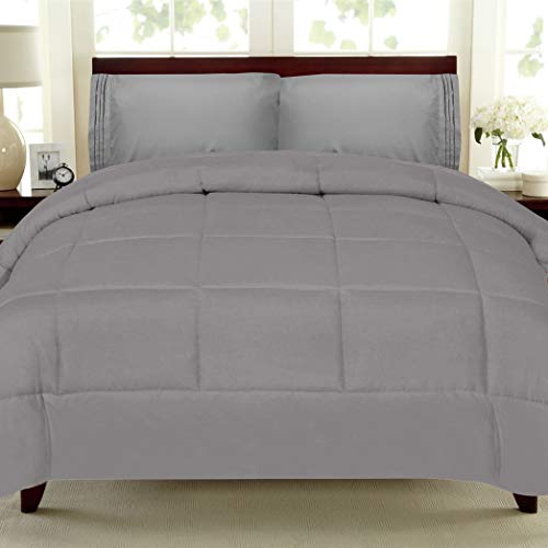 Canadian Geese Blanket - Sweet Home Collection White Goose Down Alternative Comforter, King, Gray