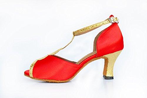 Dance Red Satin Salsa Shoes Shoes Glitter Tango Doris CSM W210 Evening Women's Wedding Fashion Latin fwIn6Tq8