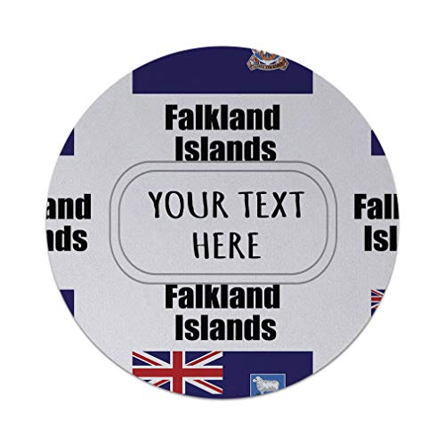 Neoprene Custom Falkland Islands Country Flag Pattern Mouse Pad Round Shape Office Mouse ()