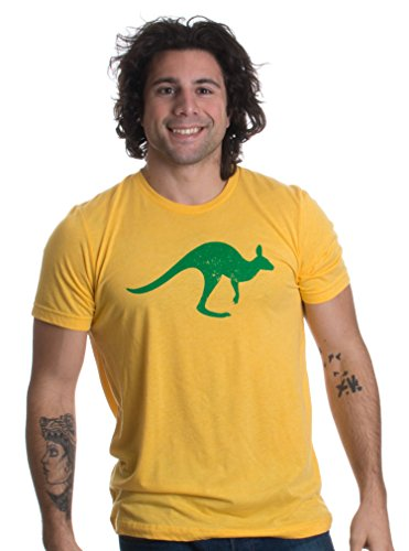 Vintage Style Australia | Aussie Roo + Southern Cross Unisex Triblend T-Shirt-(Triblend,M) ()
