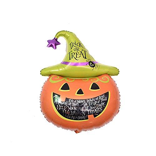 Super Funny Halloween Pumpkin Foil Balloon Party Decor Party Supply, Halloween, -