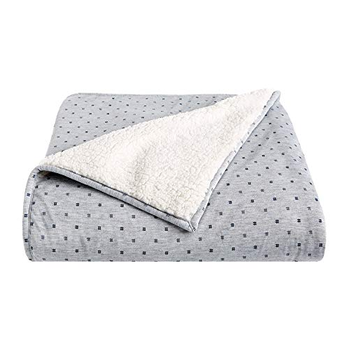 Jersey Sherpa Throw - Splendid Home Sherpa/Jersey Throw Blanket 50x70 Heather Grey/Hashtag